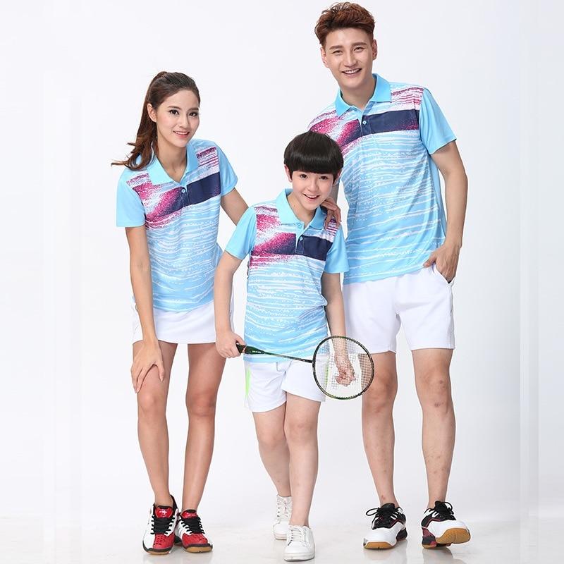 Badminton Shirt,Summer men women lovers tennis train shirts clothing,Stripe gradient table tennis Shirts sportswear jersey
