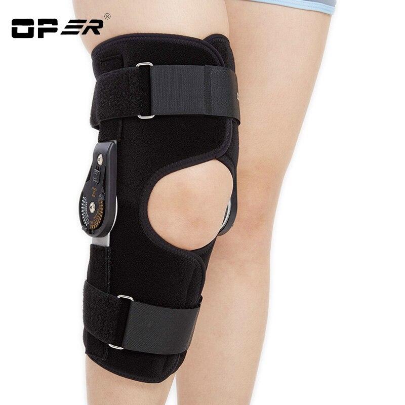 OPER Knee Pads Hinged Orthosis Brace Support Justerbar Medicinsk - Sjukvård - Foto 3