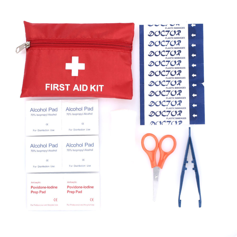 First Aid Kit 8 Kinds Drugs Waterproof Medical Box Portable Multipurpose Emergency Medical Kit First Aid Bag Camp