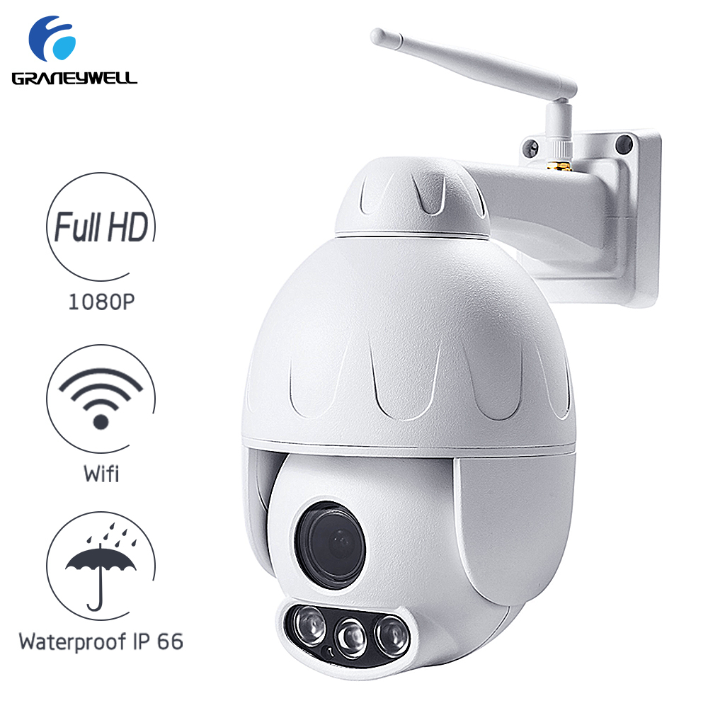 Graneywell Wifi Camera 1080P 2.0MP 5X Optical Zoom Wireless Security Camera Two-way Audio Smart P2P Waterproof Bullet IP Camera