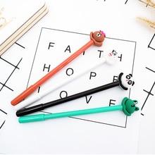 4pcs/lot kawaii Frog bear gel pen 0.5 cute Neutral pen stationery canetas material escolar office school supplies papelaria цена