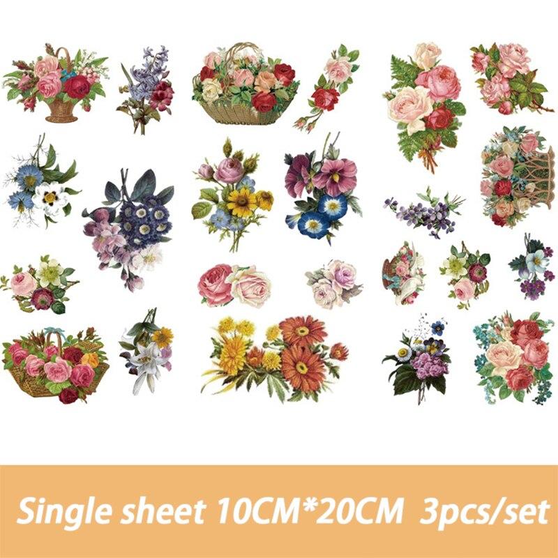 Cute Cartoon Flowers Memo pad Stickers Posted It Kawaii Planner  Scrapbooking Stationery Sticker Escolar School Supplies