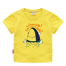 Summer 2019 girls tops  baby shark clothes Cute boys Cotton cartoon short sleeve girl toddler tshirt