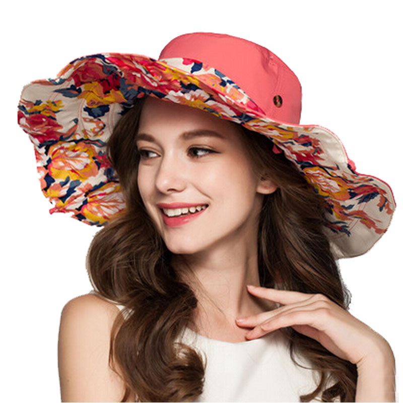 33a3eb6a8ad73 FS Fashion Women Summer Vacation Travel Beach Hat Large Brimmed Vintage Sun  Visor Hat