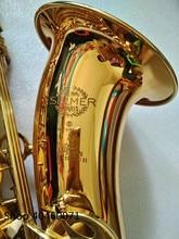 Новый саксофоны тенор Bb Selmer France 802 Модель Sax золото тенор Saxopfone Музыкальные инструменты Идеальная упаковка подарок способ отгрузки