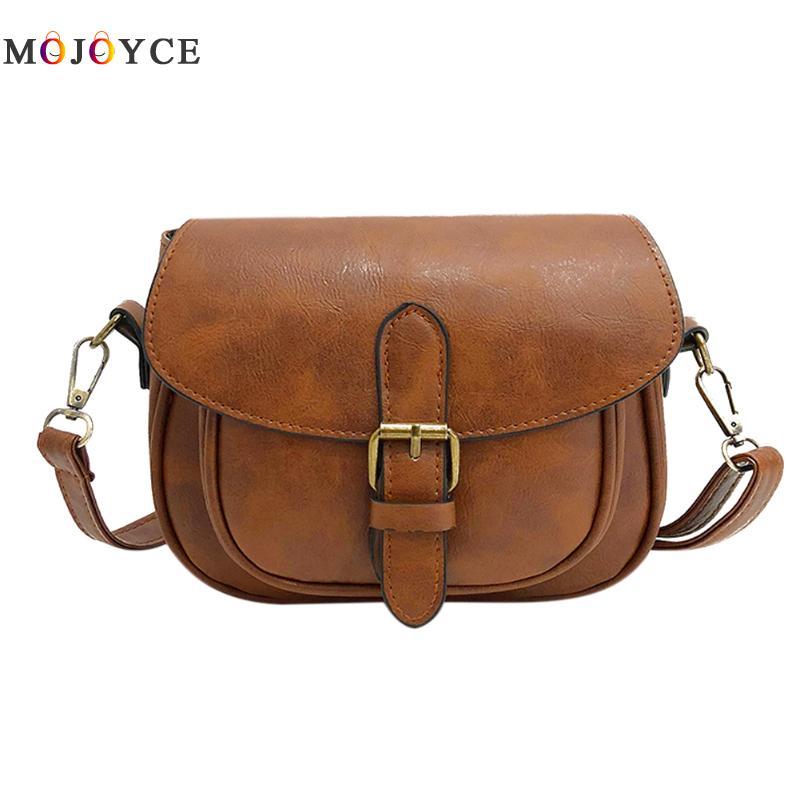 все цены на Vintage Women PU Leather Shoulder Bag Small Square Handbag Fashion Designer Crossbody Bags for Women Messenger Bag Female онлайн