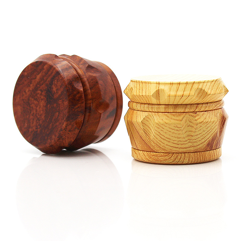 New Arrival Wood Grinder 63 MM 3 Layers Herb Grinder Aluminum Sharp Diamond Teeth Tobacco Grinder Herbal Weed Grinder Gifts-in Tobacco Pipes & Accessories from Home & Garden