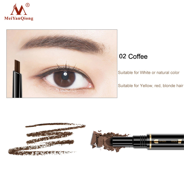 Air Cushion Triad Eyebrow Pencil Waterproof Longlasting Triangle Natural Make Up Eye Brow Liner With Brush Makeup Tools 3in1 2