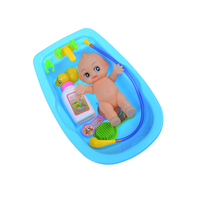 New Arrival Simulated Infant Early Educational Play Set Doll Collection Handmade Alive Silicone Reborn Baby Bath Bathtub