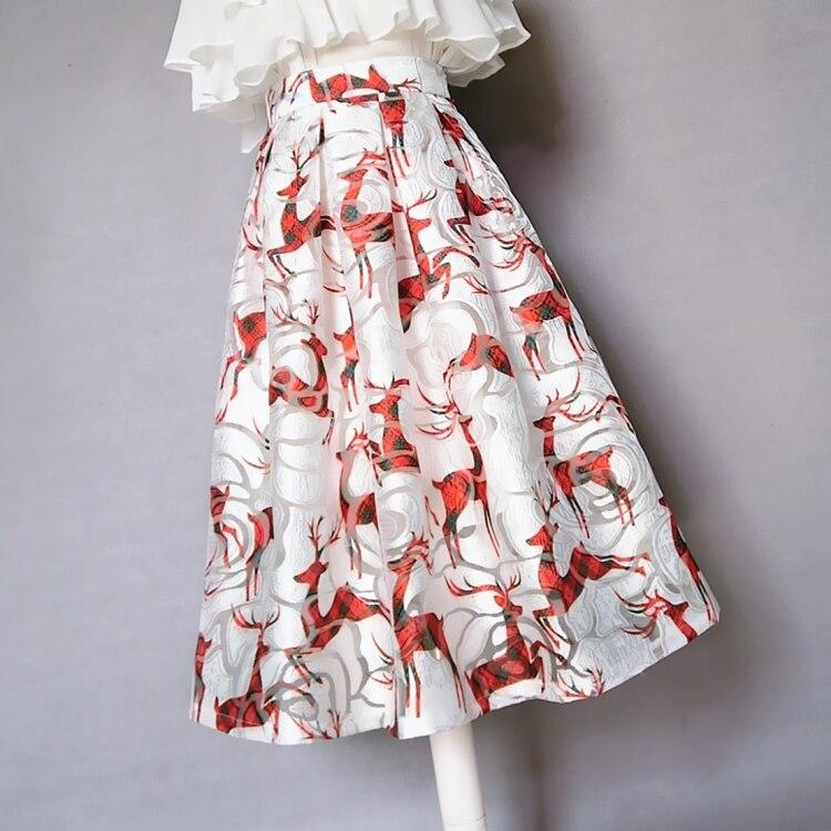 New Arrival Office Lady Skirt Printing A line Spring Summer Customized High Waist Zipper Skirt XHSD 3253