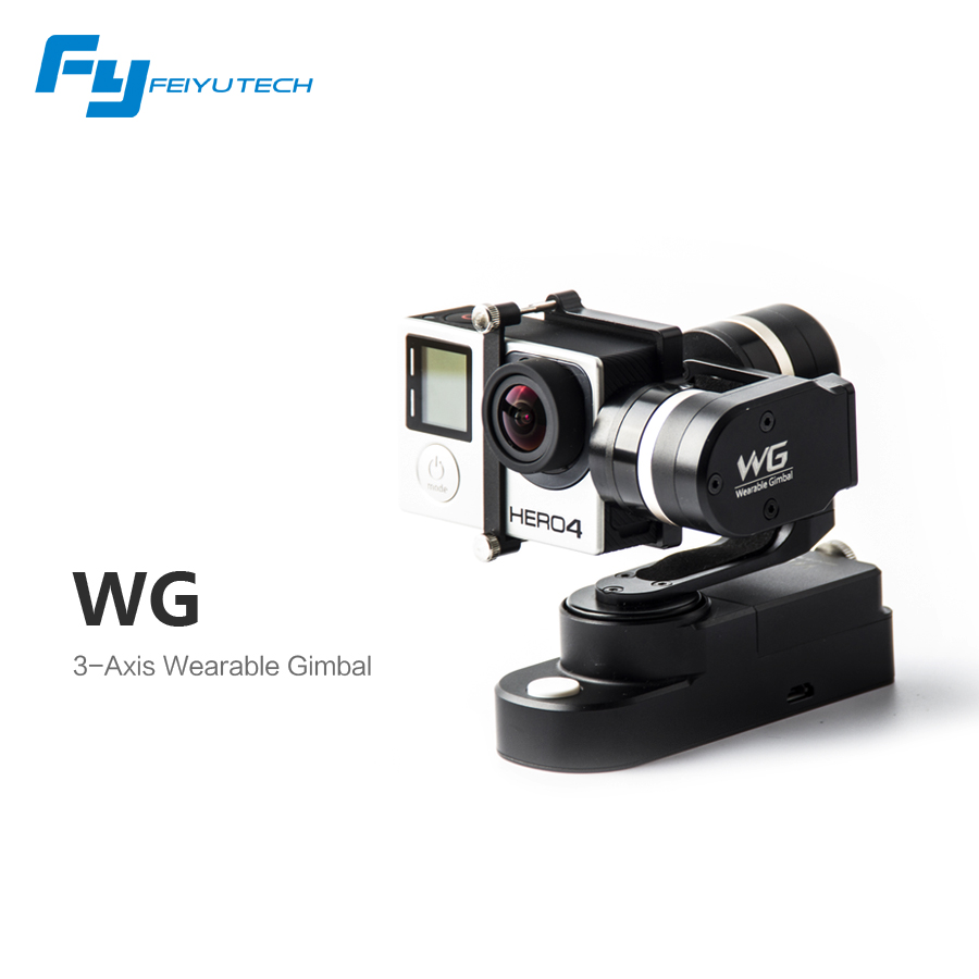 Feiyu FY WG Wearable 3 axis Gimbal Brushless Steady Stabilizer for Gopro Hero 3 3+ 4  LCD Extend Xiaoyi Sj4000 AEE Camera feiyu tech fy mini3d pro 3 axis 6 damper ball brushless gimbal for gopro4 gopro3 gopro3 sport camera