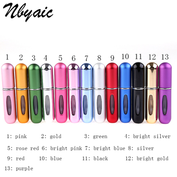 Nbyaic Refillable Portable Travel Mini Refillable Conveniet Empty Atomizer Perfume Bottles Cosmetic Containers For Traveler P27 3 colors 10ml mini portable refillable perfume atomizer spray bottles empty bottles cosmetic containers bottles gifts wlw27