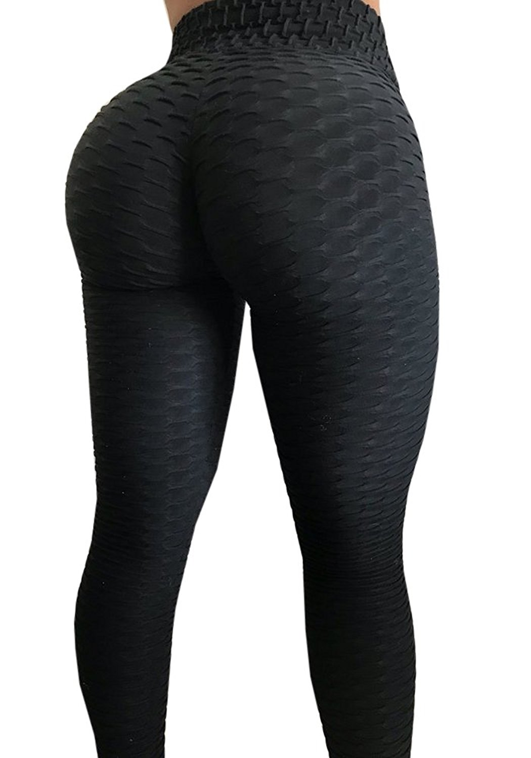 Women High Waist Ruched Butt Lift Workout Tights Stretchy Yoga Skinny Pants GIFT