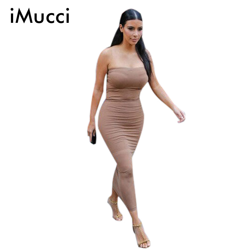2016 Summer Women Sexy Strapless Long Dress Bandage ...