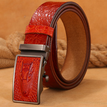Men's Hot Luxury Genuine Leather Crocodile Pattern Belt