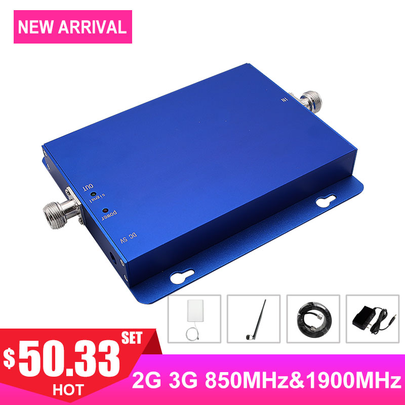 Dual Band 1900MHz Cellular Signal Booster 2G 3G 4G Band2 Band5 850MHz CDMA PCS FDD Internet Cellphone Network Signal Amplifier -Dual Band 1900MHz Cellular Signal Booster 2G 3G 4G Band2 Band5 850MHz CDMA PCS FDD Internet Cellphone Network Signal Amplifier -