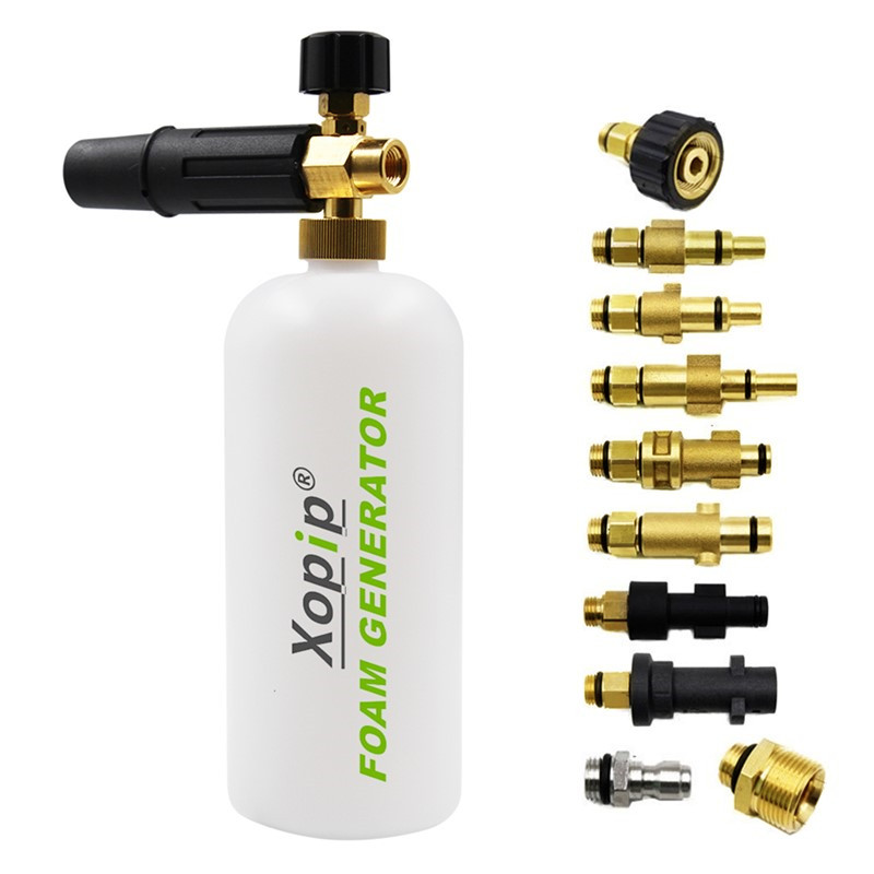 1000ML Snow Foam Generator Lance Foamer Sprayer Nozzles For Different Brands High Pressure Car Washer Gun Machine