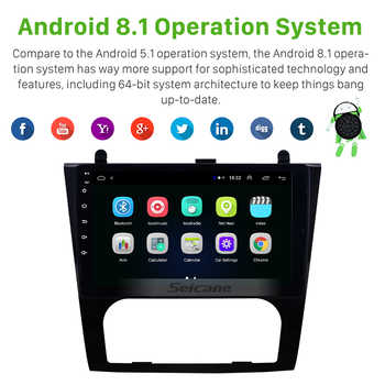Seicane Android 8.1 9 inch Car GPS Navigation Radio for 2008-2012 Nissan Teana Altima Auto A/C Multimedia Player support OBD DVR