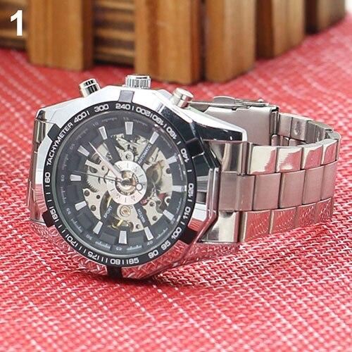 Gofuly 2020 Heren Horloges Rvs Mechanische Horloge Hand-Winding Skeleton Automatische En Sport Polshorloge Orologio Uomo 2