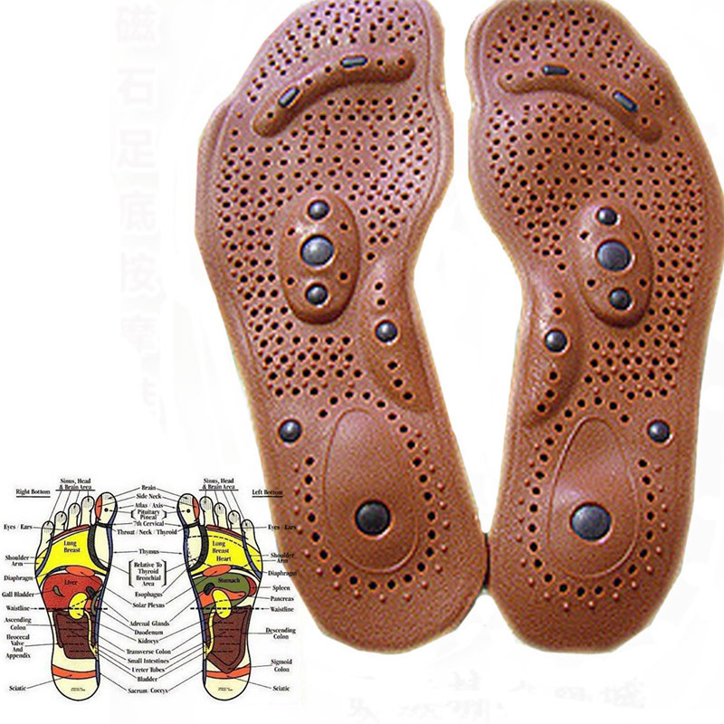 1 Pair Magnetic Therapy Magnet Health Care Foot Massage Insoles Men Women Shoe Comfort Pads Massager Relaxation L2