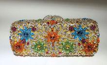 Freies verschiffen!! A16-5, gold farbe mode top kristallsteinen ring handtaschen für damen nette parteibeutel