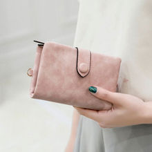 2019 Fashion Women Short Wallet PU Leather Small Clutch Purse Card Holders Handbag Cute Tri-fold Multi-card Female Short Wallets dudini fashion casual style ladies wallet solid color lichee pattern women wallets 3 fold pu leather short section small wallet