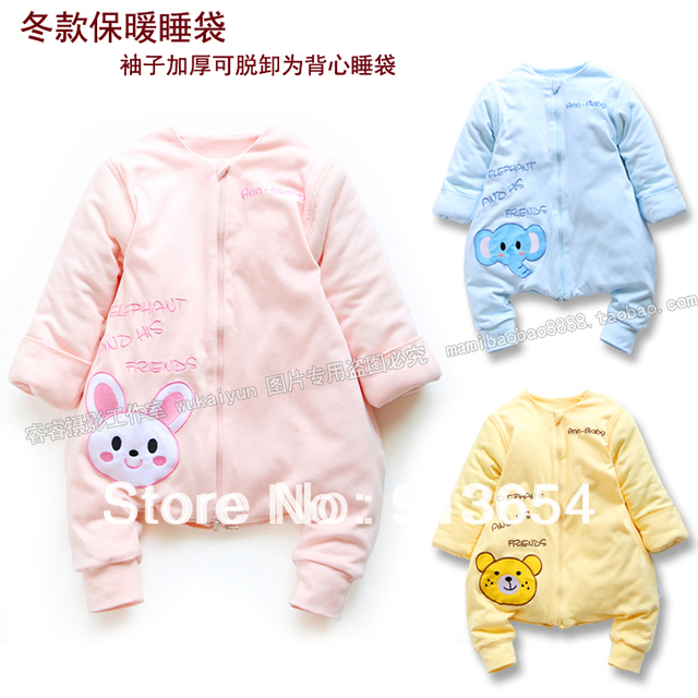 Free shipping new 2016 Autumn winter infant sleeping bag baby sleeping bag child winter warm detachable baby sleepsacks rompers