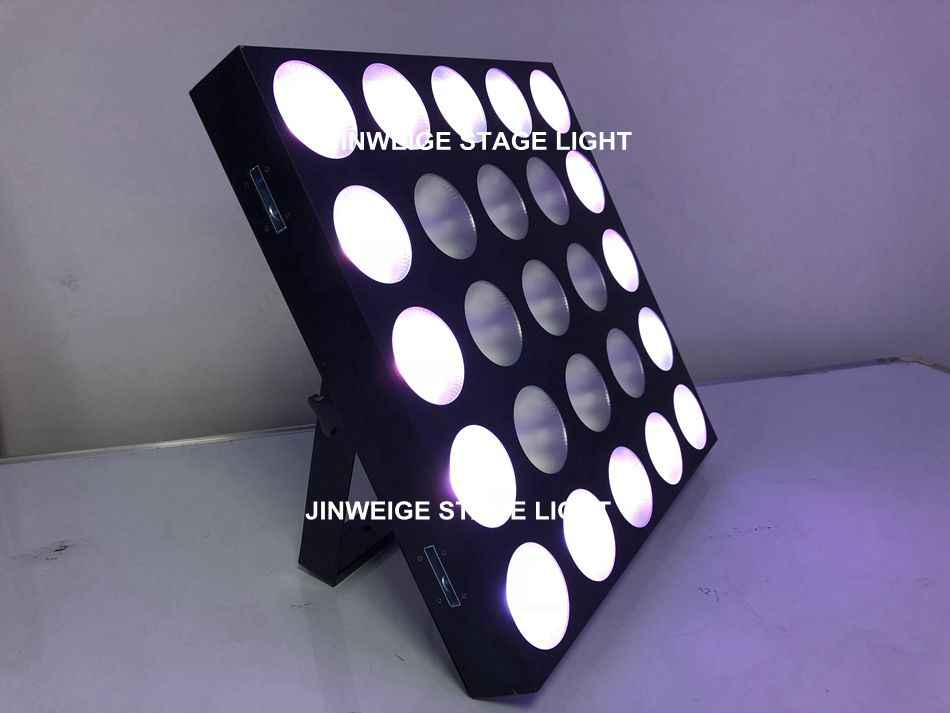 Free Shipping LED Blinder Light 5x5 Matrix Beam Build In Program 25x10w RGBW 4in1 Stage Lighting China Wall Wash Light