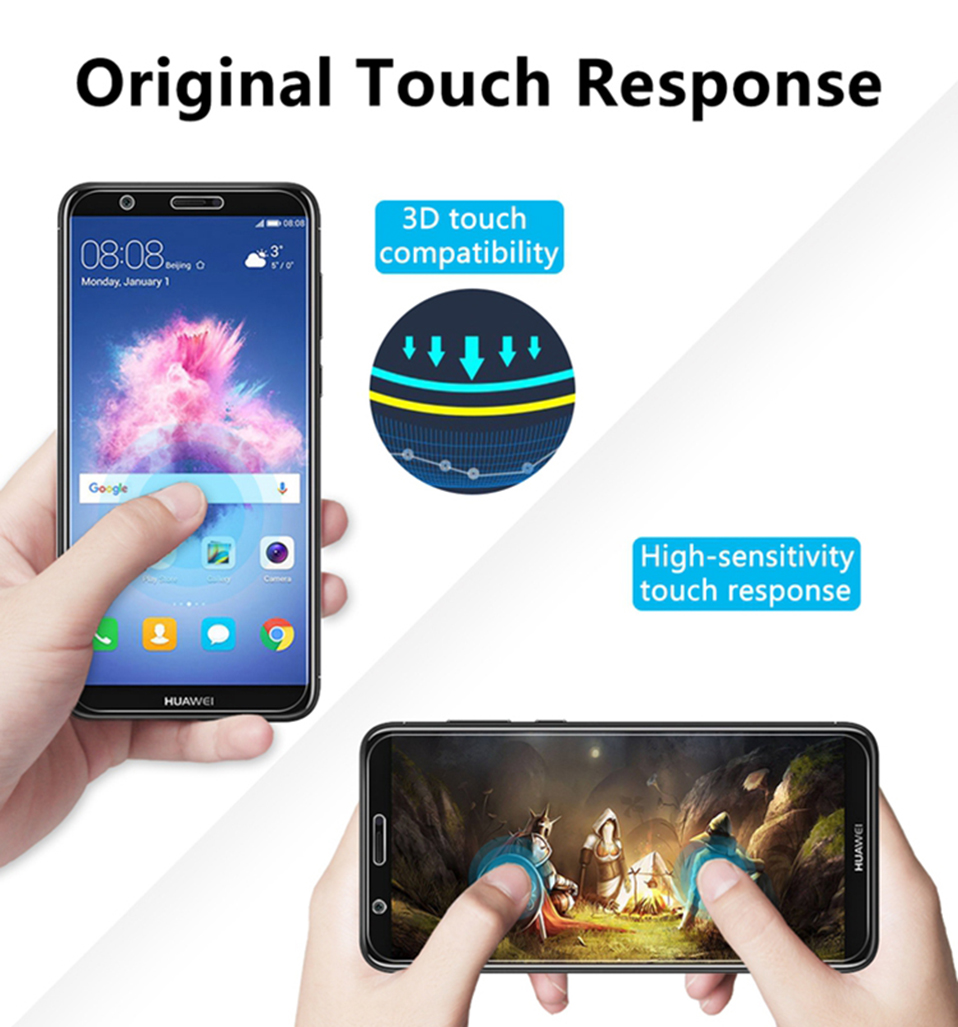 tempered glass screen protector for huawei honor 8x 9 10 y5 y6 y7 prime y9 2018(10)