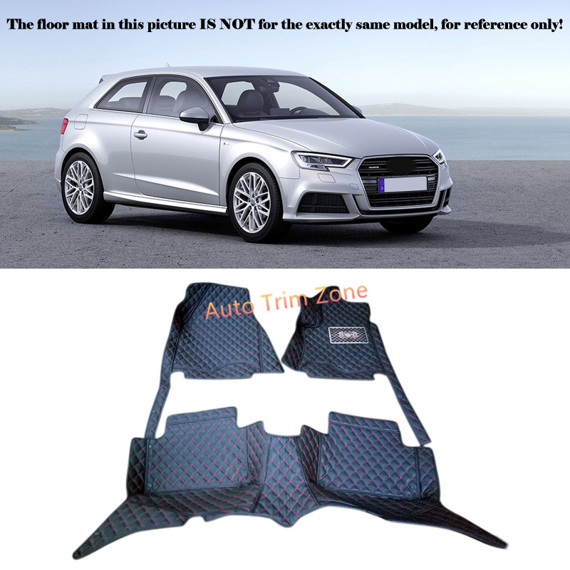 Left&Right Hand Drive Interior Leather Car Foot Mat Carpet Foot Pad For Audi A3 8V 2014 2015 2016 brand new car dashboard cover for audi tt dash cover mat right hand driver