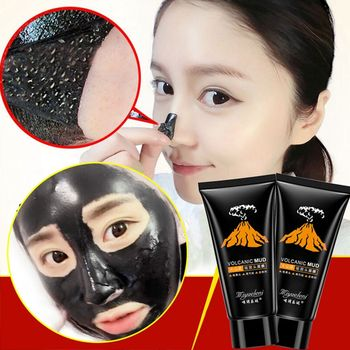 1 PC Volcanic Blackhead Remover Deep Cleansing Black Mud Face Mask Peel Acne Treatment Skin Care Beauty Women Fashion Hot Sale Комедон