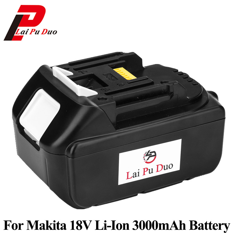 18V 3000mAh Li-Ion Rechargeable Battery Power Tool Battery 3.0Ah For MAKITA BL1830 BL1840 LXT400 LXT401 194205-3 194309-1 power tool battery hit 25 2v 3000mah li ion dh25dal dh25dl bsl2530 328033 328034 page 1