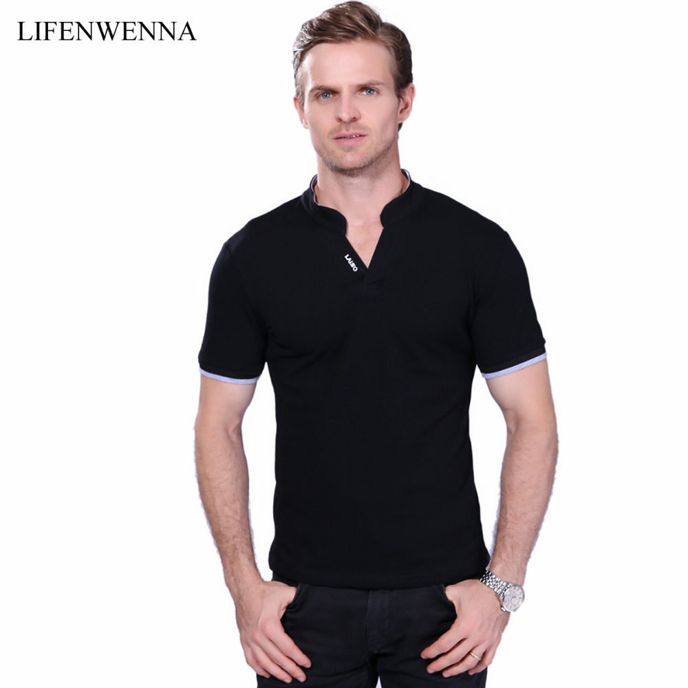 Buy summer new 2017 fashion brand mens t for Mens slim fit short sleeve shirt
