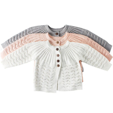 Fashion Baby Girls Clothes Children Knitted Cardigan Infant Toddler O-neck Outer