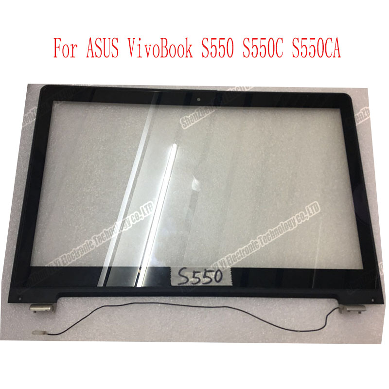 15.6 inch front Touch Screen panel Sensor outer Glass Digitizer with frame Replacement parts For Asus VivoBook S550 S550C S550CA