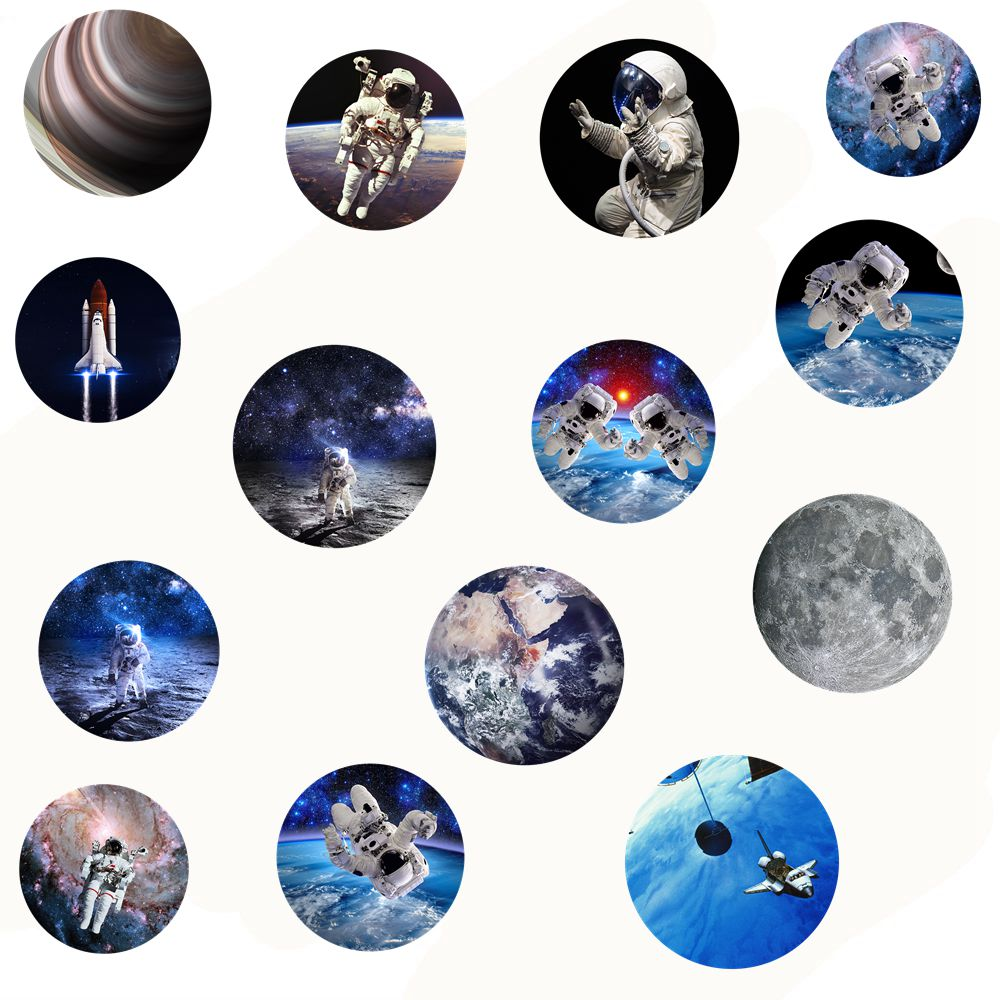 Round Spaceman POP Phone stand Mount for Smartphones and Tablets for iphone huawei popular stretch Finger holder Expanding