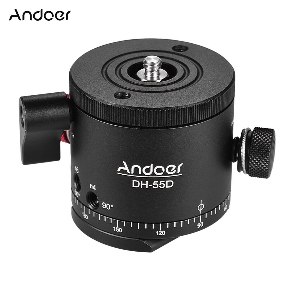 Andoer DH 55D HDR Panorama Panoramisch Balhoofd met Indexering Rotator Aluminium Max. Belasting 15 kg/33Lbs-in Statiefkoppen van Consumentenelektronica op  Groep 1