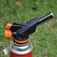 New Gas Torch Flamethrower Automatic Multifunctional Piezo Lgnition Spray Gun Camping Welding BBQ Travel Flame Gun 1pc