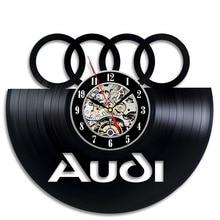 Black Hollow Audi Logo CD Record font b Wall b font font b Clock b font