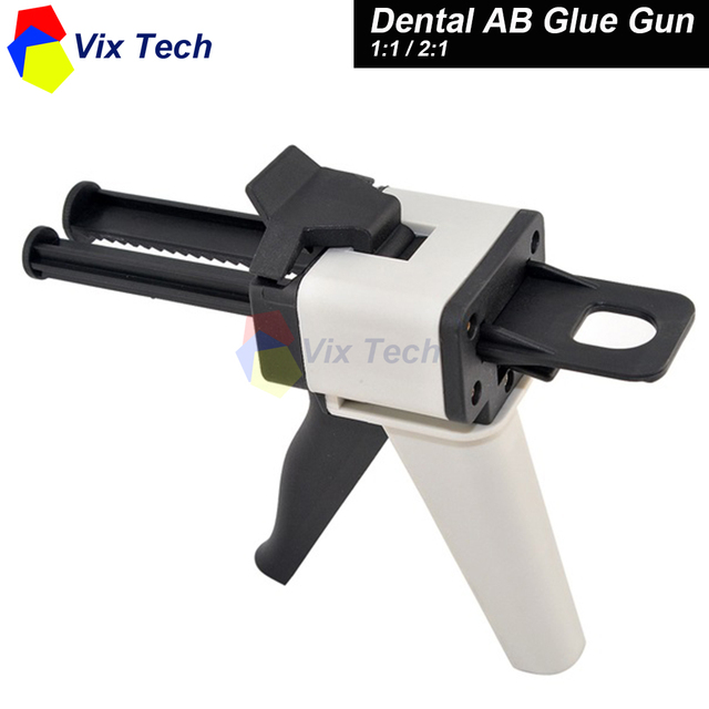 Dental pistola de pegamento AB 1:1/2:1 Modelo de Mezclador de caucho de silicona, laboratorio Dental equipo dental blanqueador herramientas kit