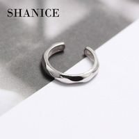 SHANICE 925 Sterling Silver Jewelry Irregular geometry smooth Knuckle Tail Rings for Women bijoux en argent best gift