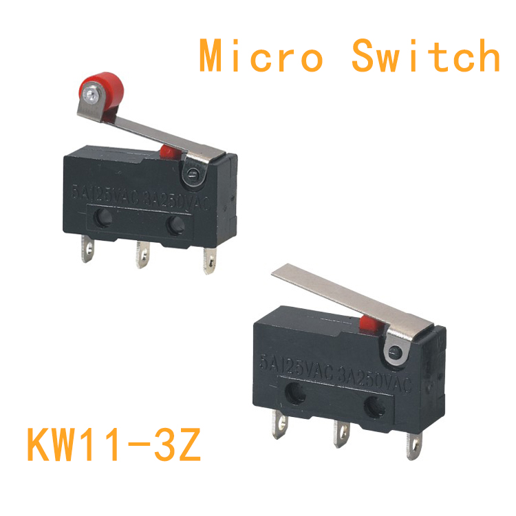 10PCS Limit Switch, 3 Pin N/O N/C High quality All New 5A 250VAC KW11-3Z Micro Switch Pulley KW12-N KW12-B micro switch tm 1743 high temperature resistence switch limit switch travel switch