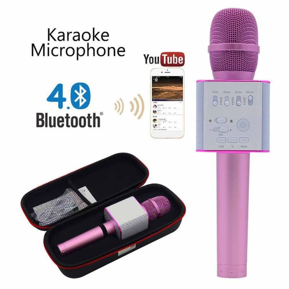 2018 Top Wireless Microphone Karaoke Portable Cordless Handheld Bluetooth Party KTV Player Speaker Kids Karaoke Machine Mikrofon