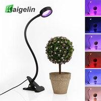 Kaigelin 6ワットled成長ライト色調整可能なクリップテーブルランプfitolampa育てるledフルスペクトラムフィトランプ用鉢植え植物