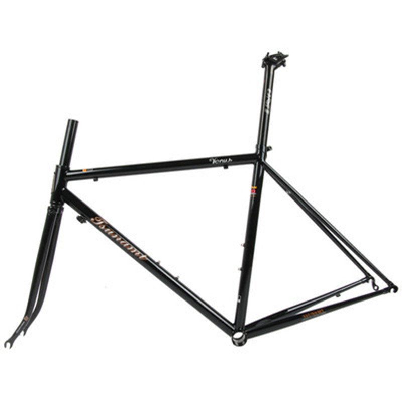 TSUNAMI 520 chrome-molybdenum steel Bicycle Frame Road Bike Frame + full carbon front Fork or steel ForkTSUNAMI 520 chrome-molybdenum steel Bicycle Frame Road Bike Frame + full carbon front Fork or steel Fork