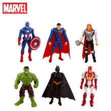 6 Pcs/set Disney Marvel Avengers Infinity War Spiderman Iron Man Superhero American Captain Thor Action Figure Dolls Kid Gift цена и фото