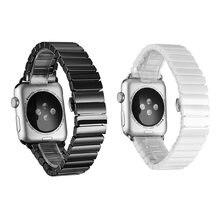 Роскошный керамический ремешок с пряжкой для часов iwatch серии