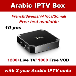 10 pcs DHL free Ship Best IPTV Arabic X96 mini Europe support 1200 Plus Live IPTV 1000 VOD in Arabic IPTV box|Set-top Boxes| |  -