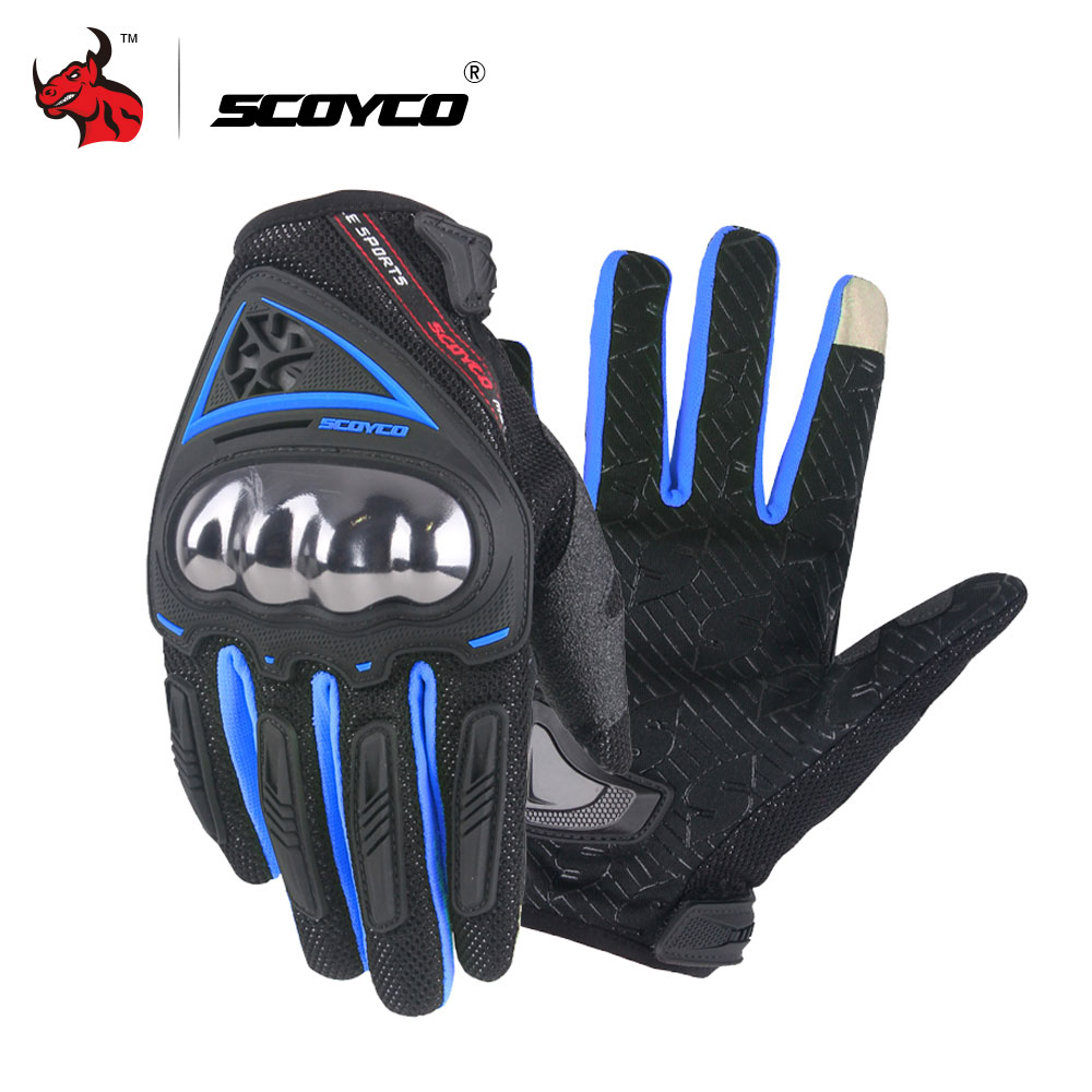 Free Shipping Full Finger Motorcycle Bicycle Gloves Motocross 7 Colors Size M-XL