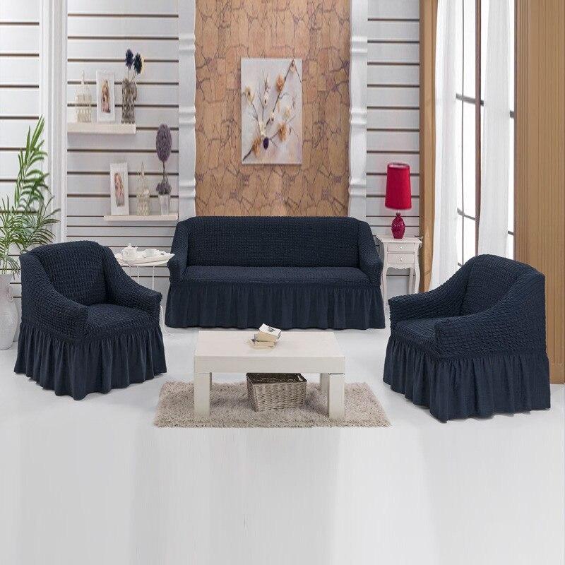 Set di universale copre per divani e sedie/Copertura sul divano ad angolo/Della Copertura per divano universale elastico 3-1-1 posti 1 set